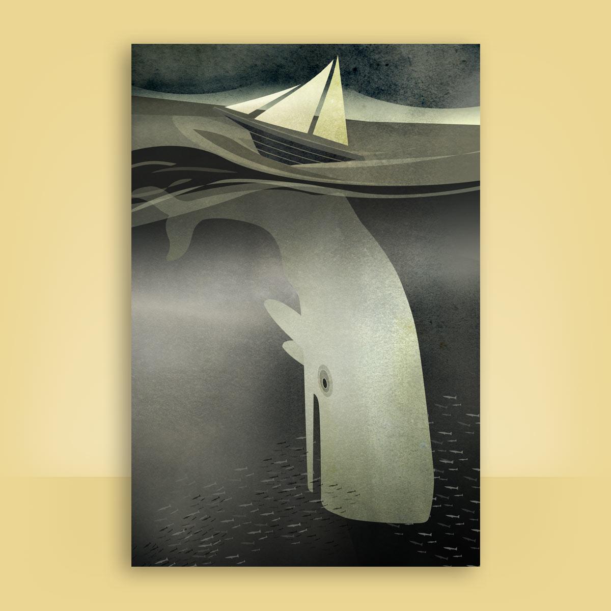 Ilustración Moby Dick